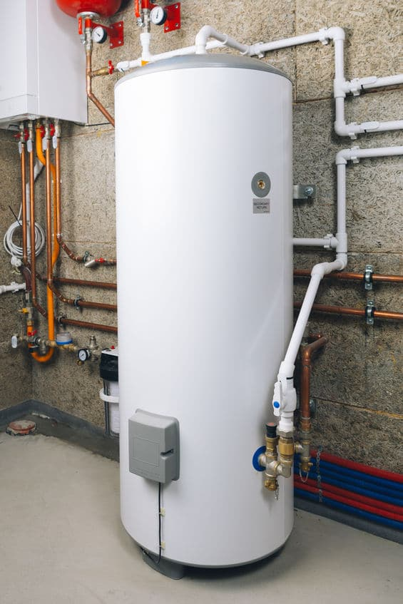 water heater in modern boiler room