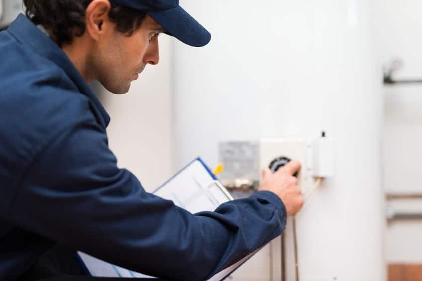 technician performing water heater repair near me in ben lomond ca